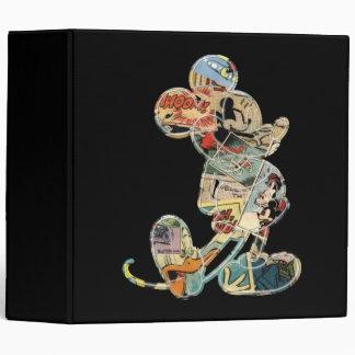 Classic Mickey | Comic Silhouette 3 Ring Binder