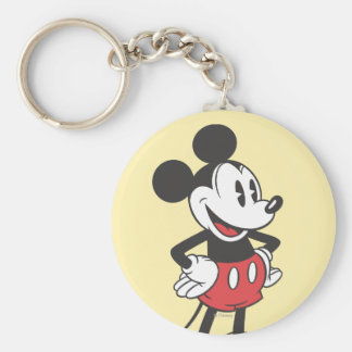 Classic Mickey | Hands on Hips Basic Round Button Keychain