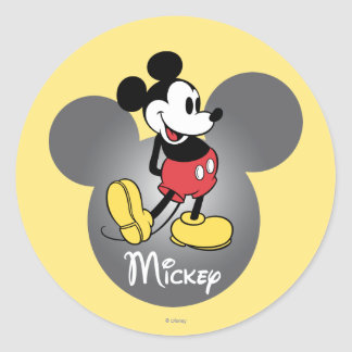 Classic Mickey | Head Icon Classic Round Sticker
