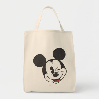 Classic Mickey | Head Tilt Wink Grocery Tote Bag