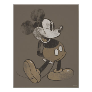 Classic Mickey | Vintage Hands Behind Back Poster