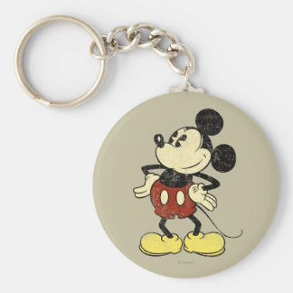 Classic Mickey | Vintage Hands on Hips Basic Round Button Keychain