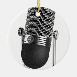 Classic Microphone Ceramic Ornament
