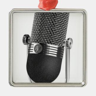 Classic Microphone Metal Ornament