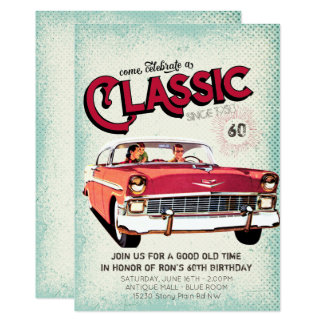 Classic Mid Century Car | Vintage 60th Birthday Card