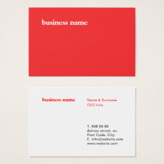 Classic Minimalist Design Template - Business Card