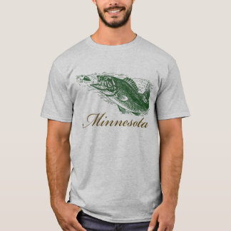 Classic Minnesota Fish Fishing Traveler T-Shirt