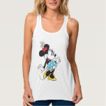 Classic Minnie Mouse 3 Flowy Racerback Tank Top