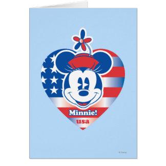 Classic Minnie   Patriotic Card
