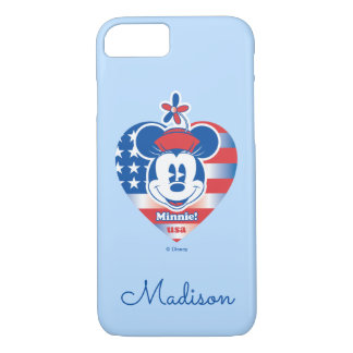 Classic Minnie | Patriotic | Your Name iPhone 7 Case