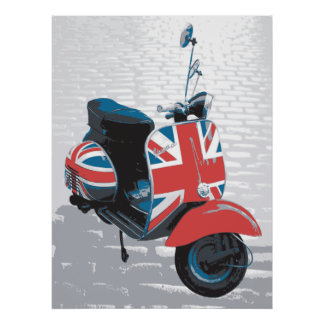 Classic Mod Scooter Poster