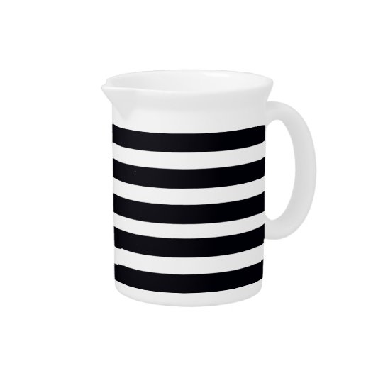 Classic modern Black and White Stripes Pitchers