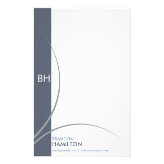 Classic Modern Blue Business Stationary Stationery