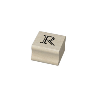 Classic Monogram Letter R 1 Inch Stamp