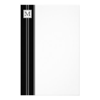 Classic Monogram Striped Stationery