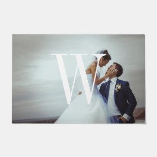 Classic Monogram Wedding Photo Doormat