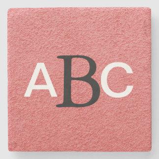 Classic Monogrammed Stone Coaster