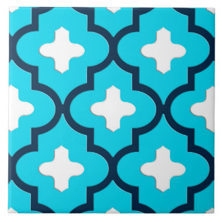 Classic Moroccan Tile, Indigo and Sky Blue Tile