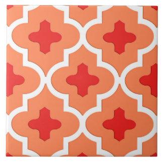 Classic Moroccan Tile, Mandarin Orange Tile