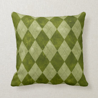 Classic Mossy Green Argyle Geometric Pattern Throw Pillow