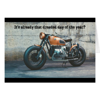 Classic Motorcycle Birthday Card
