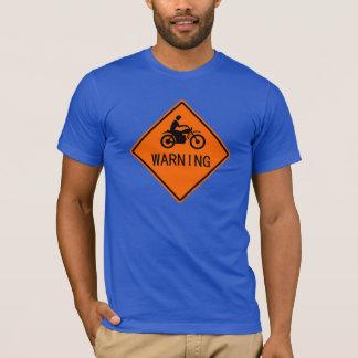 Classic Motorcycle Traffic Sign - Warning T-Shirt