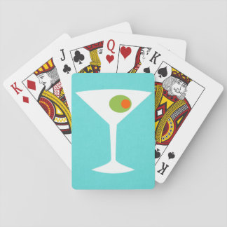 Classic Movie Martini Playing Cards (turquoise)