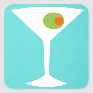 Classic Movie Martini Sticker (turquoise)