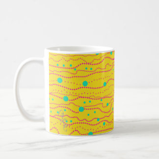 CLASSIC MUG Starry Night Yellow, Red, Aqua