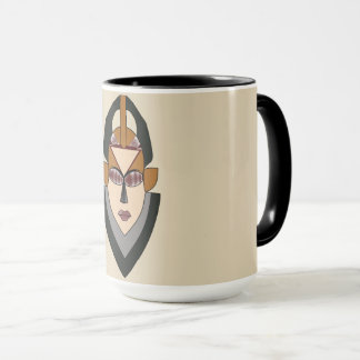 Classic mug with a mask Design.