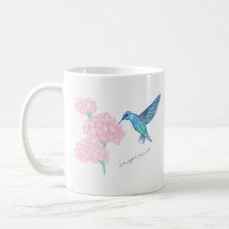 Classic Mug with drawing of a hummingbird