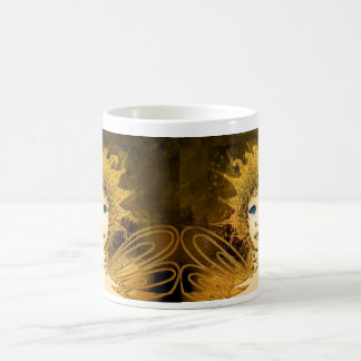Classic Mug with Golden Art Déco Style Fairy