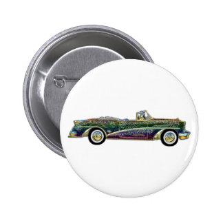 Classic Multicolor Convertible Car 2 Inch Round Button