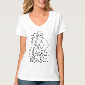 Classic Music Lettering T-Shirt