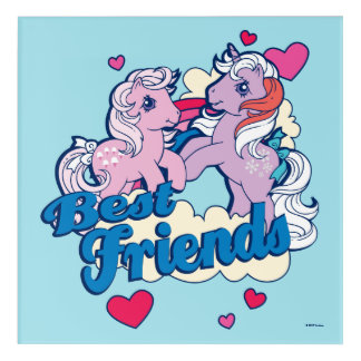 Classic My Little Ponies | Best Friends Acrylic Print