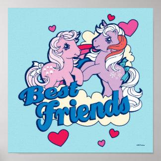 Classic My Little Ponies | Best Friends Poster
