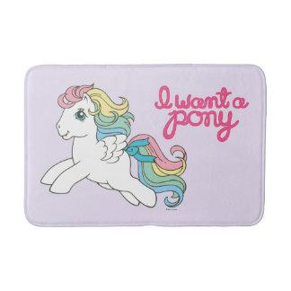 Classic My Little Pony | I Want a Pony Script Bath Mat