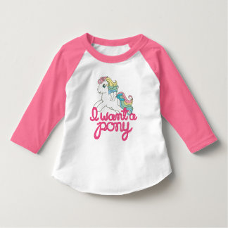 Classic My Little Pony | I Want a Pony Script T-Shirt
