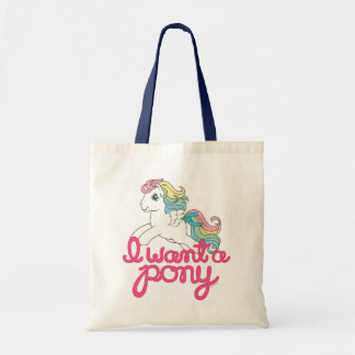 Classic My Little Pony | I Want a Pony Script Tote Bag