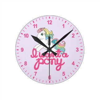 Classic My Little Pony   I Want a Pony Script Wallclocks
