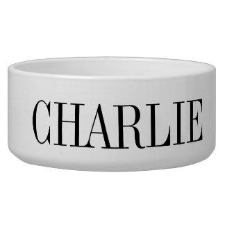 Classic Name Monogram Dog Bowl