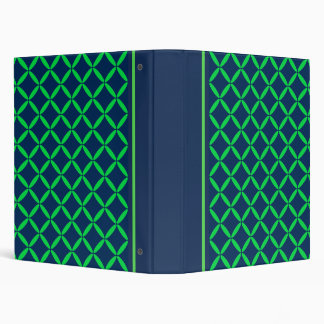 Classic Navy and Green Binder