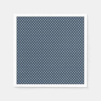 Classic Navy Blue and White Polka Dot Napkins Disposable Napkins