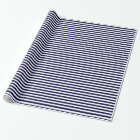 Classic Navy Blue and White Stripe Pattern Wrapping Paper