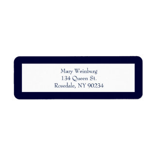 Classic Navy Return Address Label