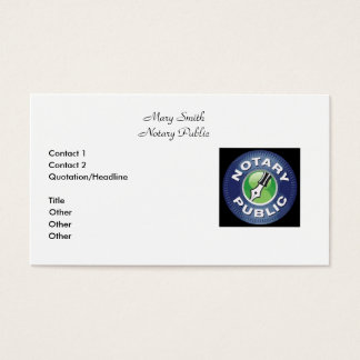 Classic Notary Public Business Cards