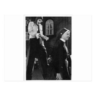 Classic nun shot postcard