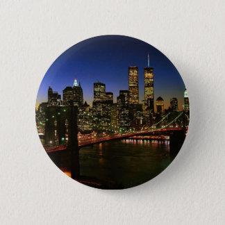 Classic NYC Skyline 2 Inch Round Button