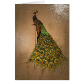 Classic oil painting gracious peacock card