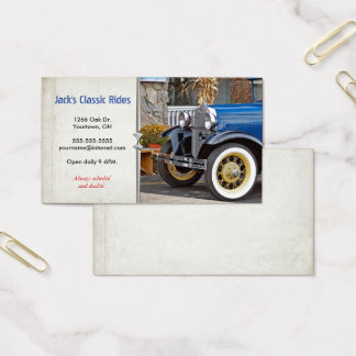 Classic Old Car Business Card